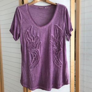 Size XL Soft Surroundings purple Haute tee